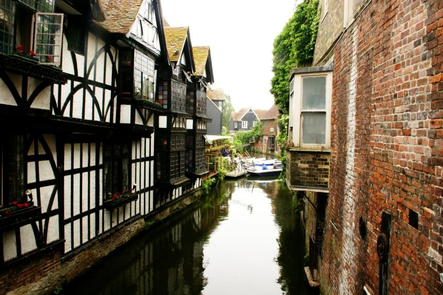 River Stour in Canterbury, Kent.